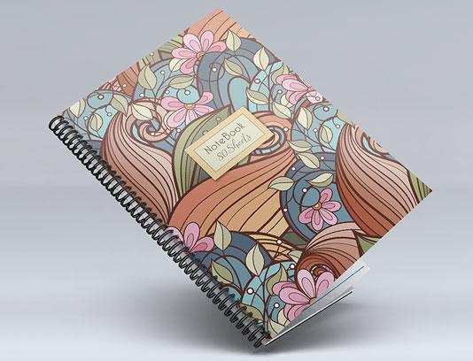 جلد دفتر گلدار فانتزی