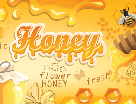 وکتور بکگراند عسل و زنبور