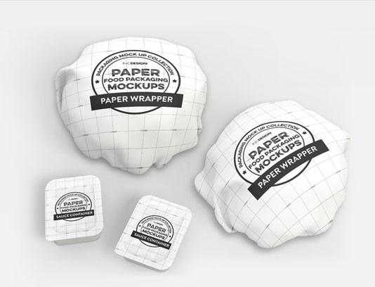 موکاپ بسته بندی همبرگر