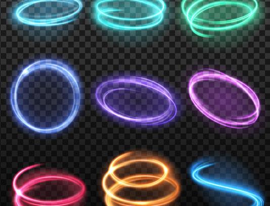 نورهای رنگی بصورت وکتور