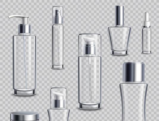 وکتور شیشه محصولات آرایشی و بهداشتی