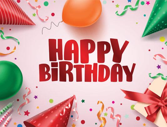 وکتور تولدت مبارک خلاقانه