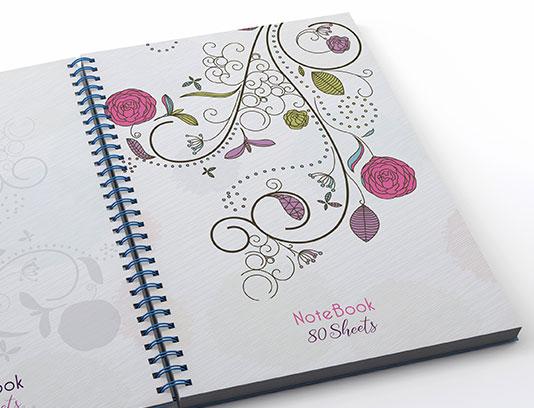 جلد دفتر گل و بته فانتزی