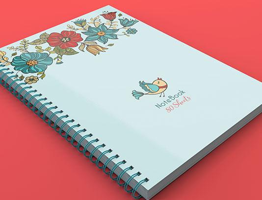 جلد دفتر گل و مرغ فانتزی