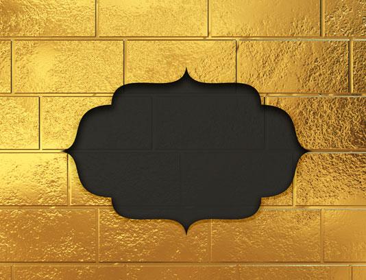 گنبد طلا و حاشیه اسلیمی