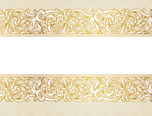 وکتور کادر اسلیمی طلایی رنگ
