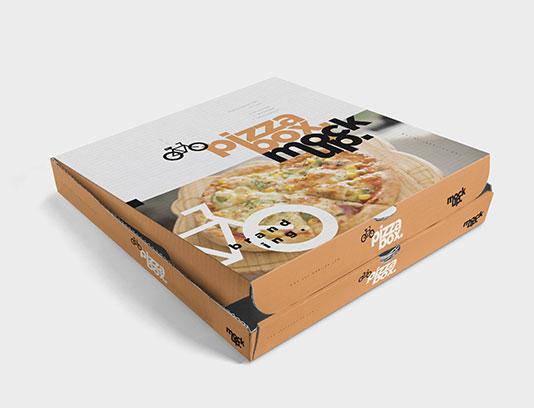 موکاپ جعبه پیتزا مربع