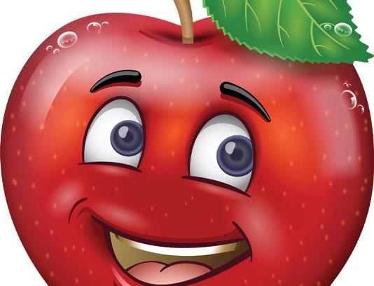 وکتور کاراکتر سیب قرمز