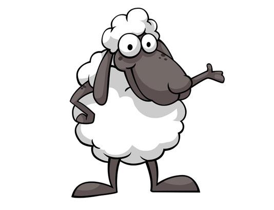 وکتور کاراکتر گوسفند