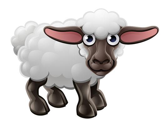 وکتور گوسفند کارتونی با کیفیت