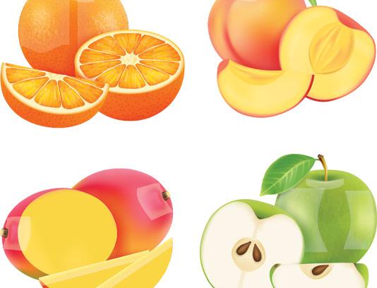 وکتور برش میوه های تابستانی