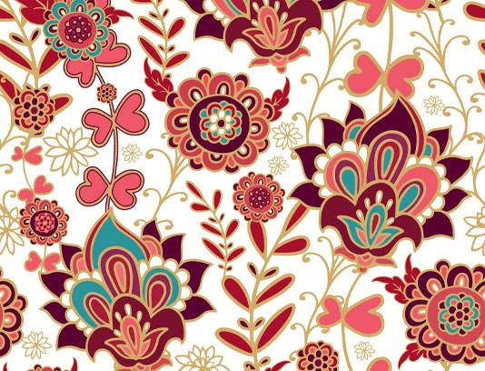 وکتور پترن گل بته سنتی