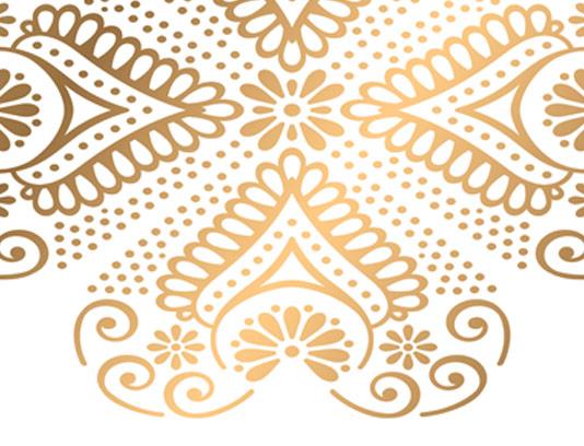 طرح بکگراند سنتی طلایی رنگ