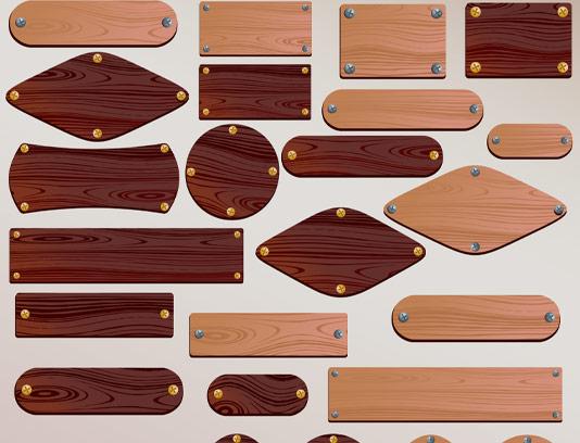 وکتور پلاک چوبی در 25 مدل