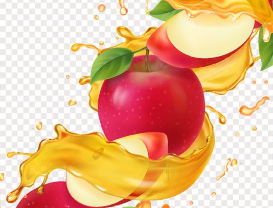 وکتور اسپلش آب میوه سیب