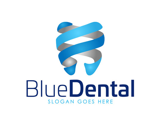 وکتور لوگو دندانپزشکی آبی