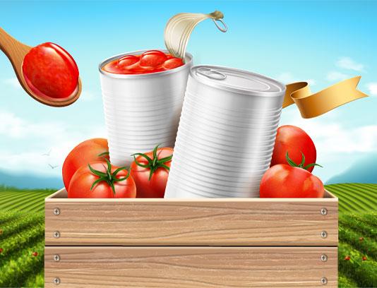 وکتور رب گوجه با رنگ طبیعی