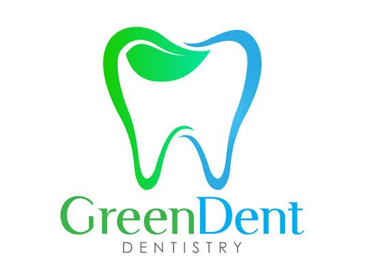 وکتور لوگو دندانپرشکی سبز