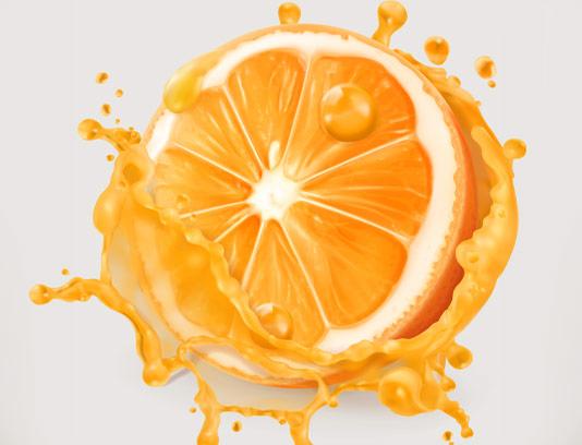 وکتور آب میوه پرتقال تازه