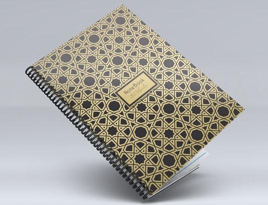 جلد دفتر نقش و نگار اسلامی