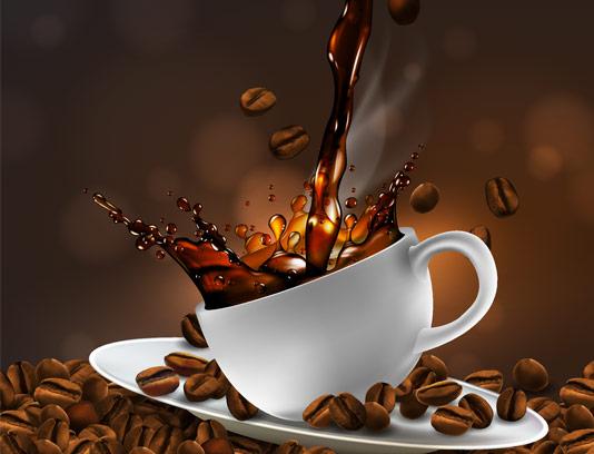 وکتور یک فنجان قهوه