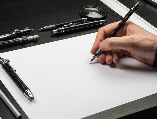 موکاپ طراحی حرفه ای بر روی کاغذ