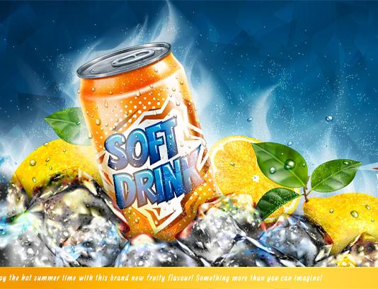 وکتور نوشیدنی بدون الکل لیمو