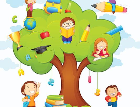 وکتور آموزشی کودکان خلاقانه