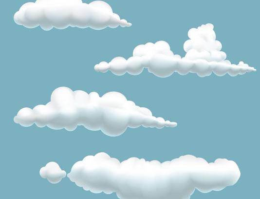وکتور ابرهای فانتزی