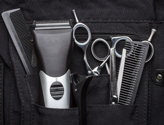 عکس ابزار آرایشگر مو مردانه