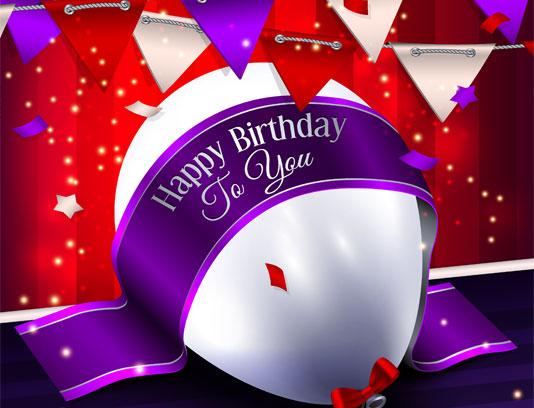 وکتور تولدت مبارک