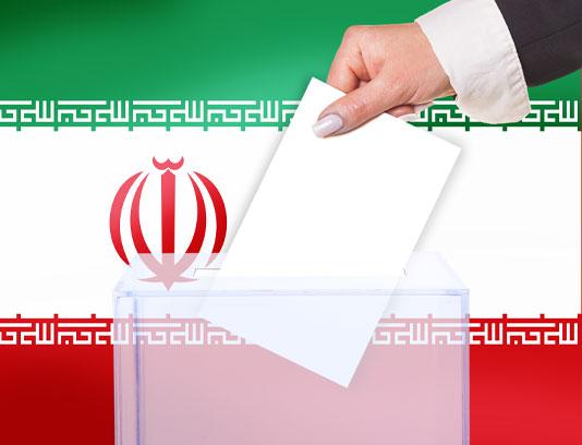 عکس صندوق رای و پرچم ایران