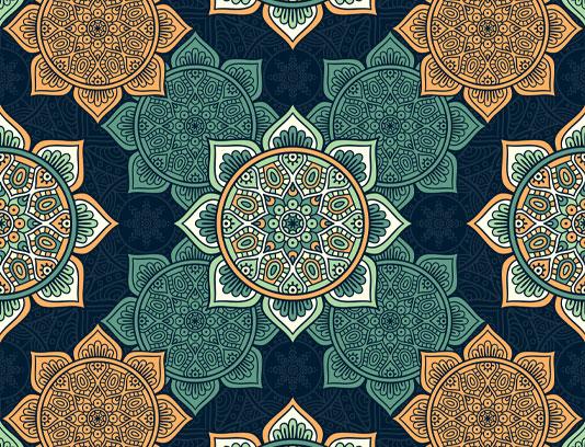 وکتور گل با طرح اسلامی بدون درز