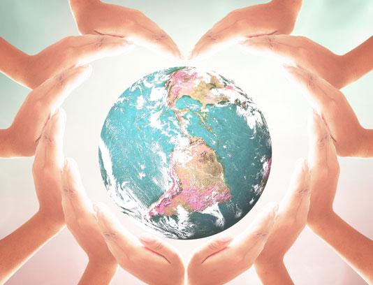عکس مفهومی لایه اوزون زمین