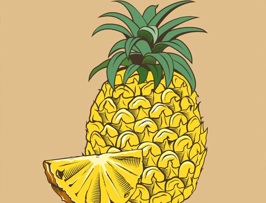 وکتور آناناس به صورت نقاشی