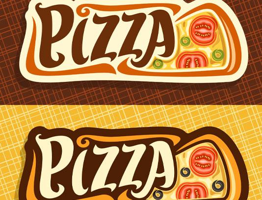 وکتور لوگوی پیتزا و فست فود
