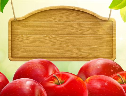 وکتور پس زمینه سیب های قرمز