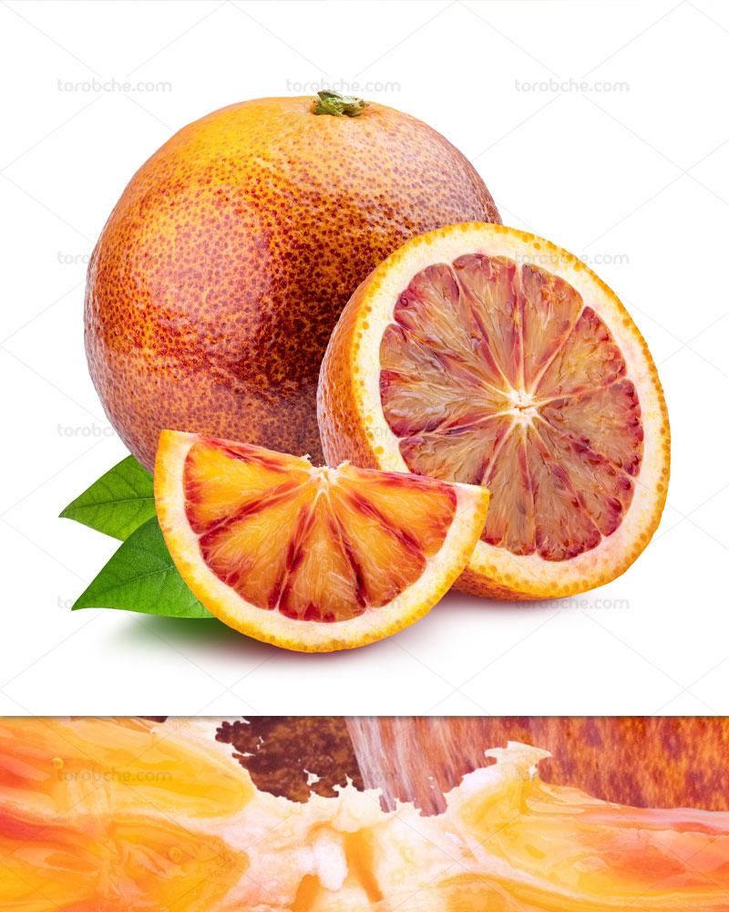 عکس پرتقال خونی برش خورده