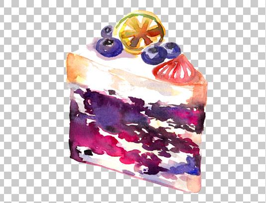 عکس دوربری شده کیک آبرنگ با کیفیت
