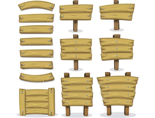 وکتور قاب های چوبی مناسب متن