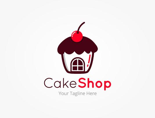 وکتور لوگو فروشگاه کیک