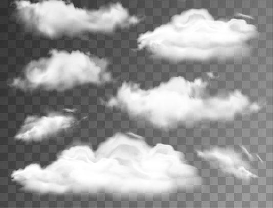 وکتور ابر بدون بک گراند