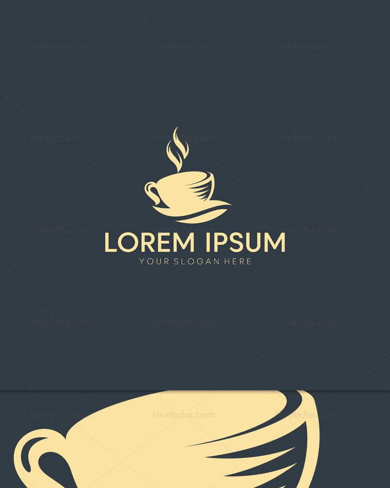 وکتور لوگو فنجان قهوه