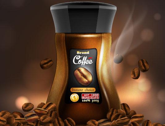 وکتور بسته بندی قهوه