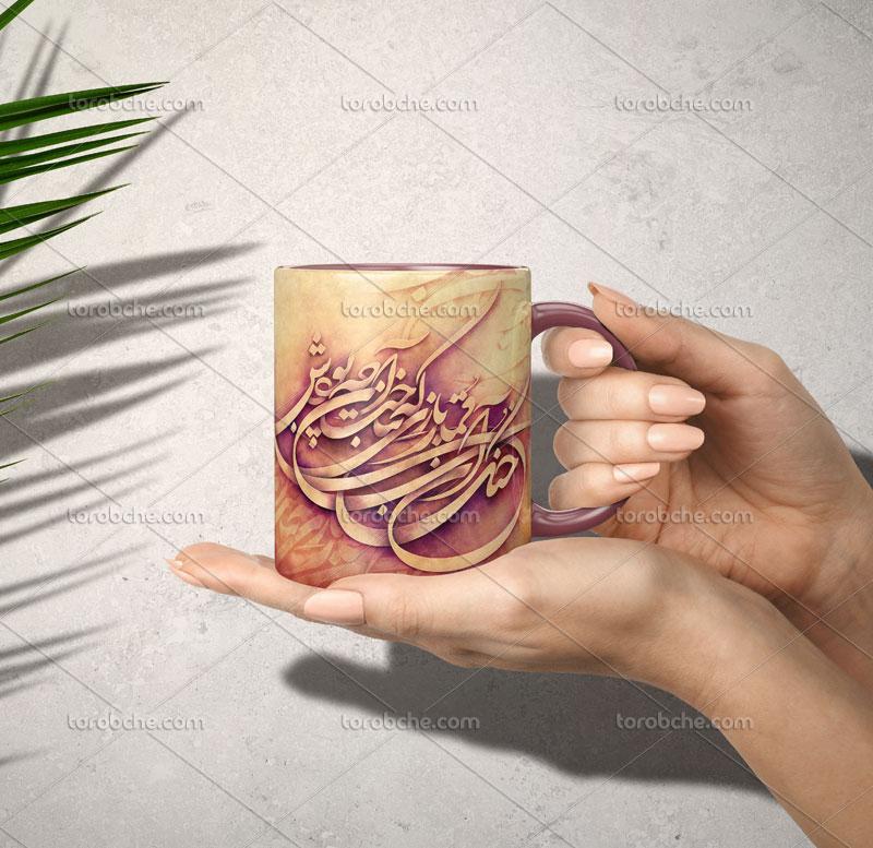 چاپ شعر قمارباز محسن چاوشی روی لیوان