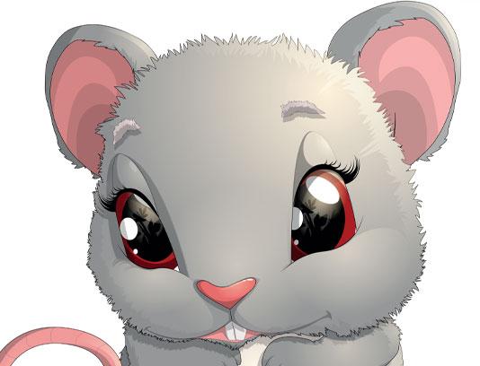 وکتور کاراکتر موش با نمک