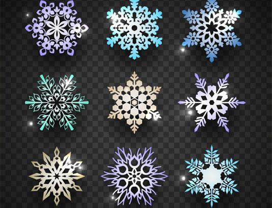 وکتور بلورهای برف خلاقانه