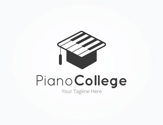 وکتور لوگو آموزشگاه پیانو