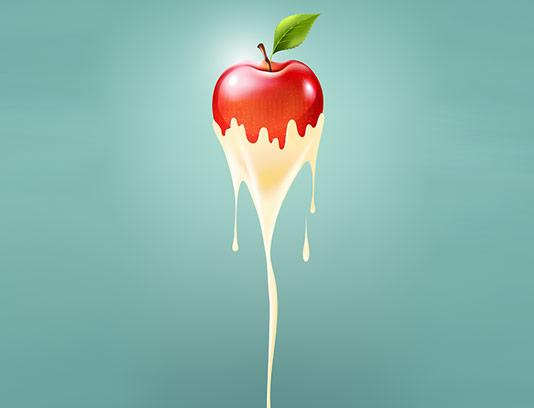 وکتور اسموتی سیب قرمز