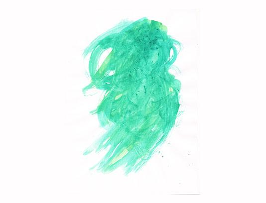 عکس لکه آبرنگ سبز فیروزه ای